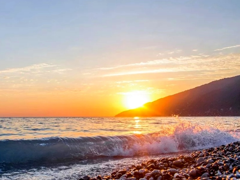 Побережье Черного моря Абхазии